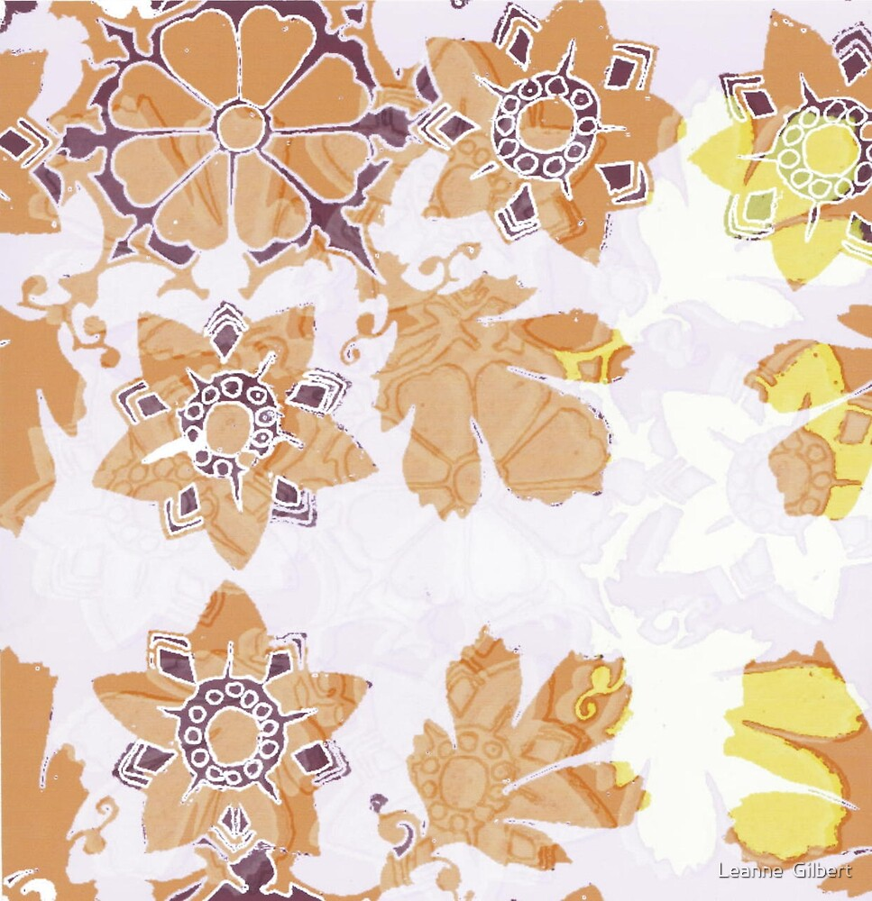 Kitch floral by Leanne  Gilbert