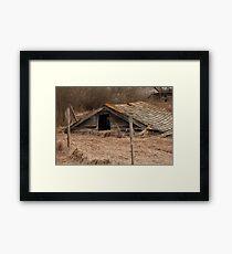 Collapsed Barn Framed Print