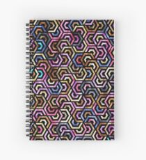Seamless Colorful Geometric Pattern XVI Spiral Notebook
