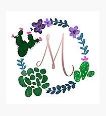 M Succulent Wreath Photographic Print