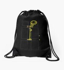 Smile! You're at 221B - yellow Drawstring Bag