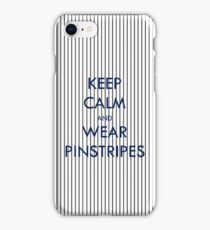 Keep Calm and Wear Pinstripes iPhone Case/Skin