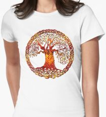 TREE OF LIFE - light my fire NEW DESIGN Womens Fitted T-Shirt