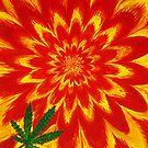 Psychedelic Weed Leaf by Scott Clendaniel