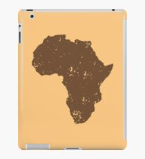 Map shape continent of AFRICA (distressed) iPad Case/Skin