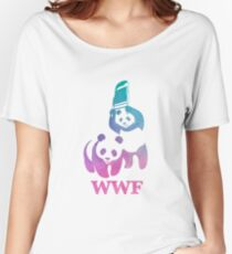 WWF Parody - Abstract Design Women's Relaxed Fit T-Shirt