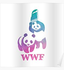 WWF Parody - Abstract Design Poster