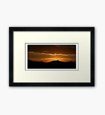 Saratoga Springs Sunset Framed Print