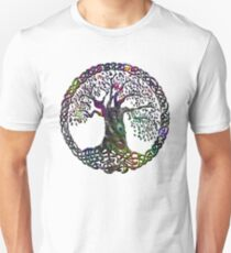 TREE OF LIFE - peacock feathers NEW DESIGN Unisex T-Shirt