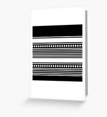 Tribal Black and White Geometric Pattern Greeting Card