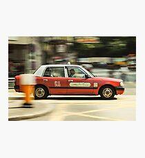 Hong Kong Taxi Photographic Print