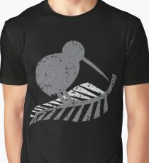 KIWI bird and a SILVER FERN distressed version Graphic T-Shirt