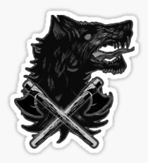 Viking Wolf Axe Throwing Brotherhood of Wolves Iron and Blood Sticker