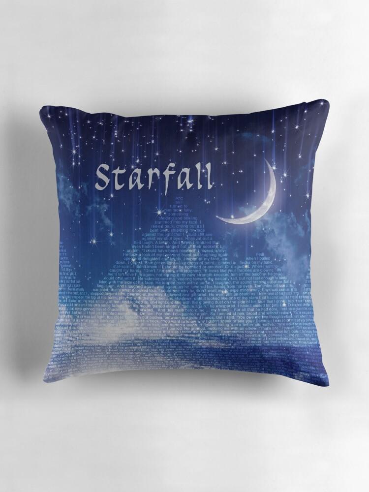 "Star Full Colorful Deck Major Arcana Stock Illustration: ""ACOMAF Starfall Scene (text)"" Throw Pillows By Cjah"