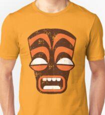 AWESOME tiki screaming distressed version Unisex T-Shirt