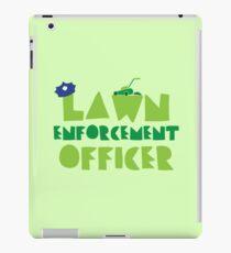 LAWN enforcement officer iPad Case/Skin