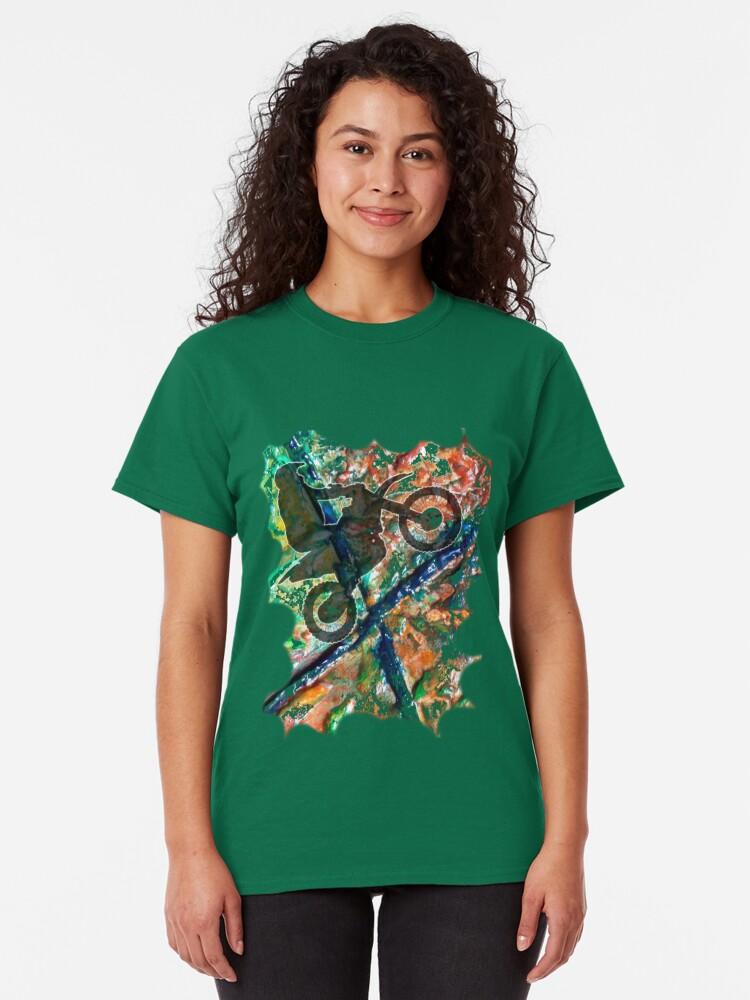 Alternate view of FULL THROTTLE BIKER Classic T-Shirt