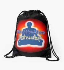 Meditation Enthusiast Logo Drawstring Bag