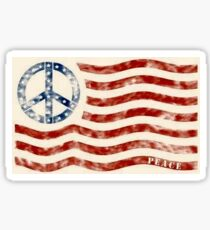 Peace Flag Sticker