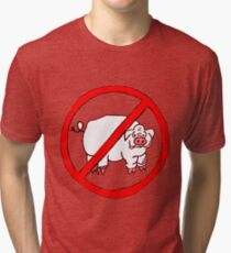 No Hogs Circle  Tri-blend T-Shirt