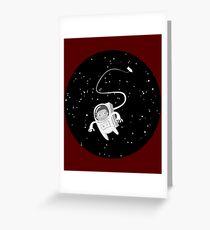 hamster astronaut Greeting Card