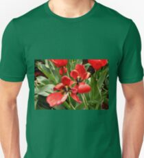 Red, black and yellow tulips Unisex T-Shirt