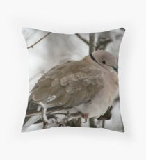 Eurasian Collared Dove Throw Pillow