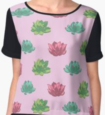 Collection of succulents Chiffon Top