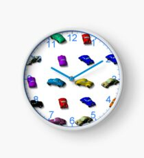 Colourful cars  Clock