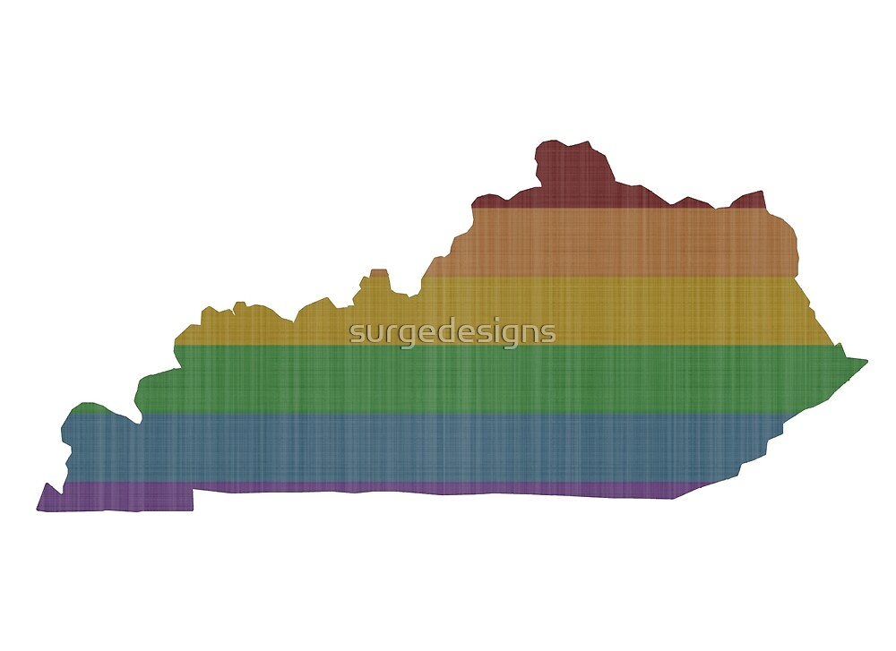 Kentucky Rainbow Gay Pride by surgedesigns