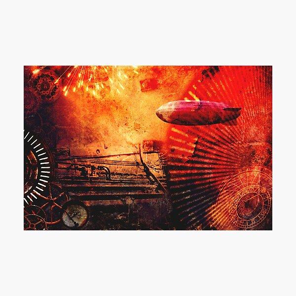 Steampunk Sunburst Photographic Print