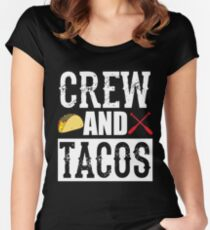 Crew and Tacos Funny Taco Women's Fitted Scoop T-Shirt