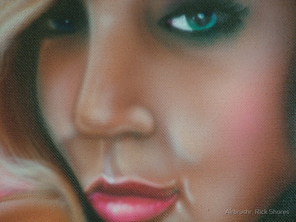 portrait airbrush by Airbrushr  Rick Shores