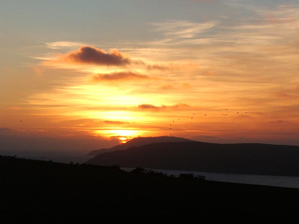 Sunset over Llynn by Steven Frisby