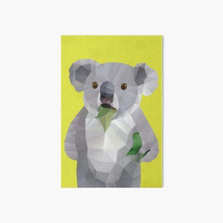 Koala with Koalafication Polygon Art Art Board Print