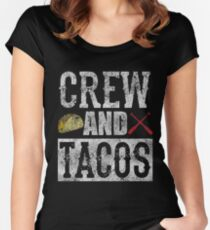 Crew and Tacos Funny Taco Distressed Women's Fitted Scoop T-Shirt