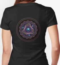 Beautiful Turquoise and Amethyst Fractal Jewelry Womens Fitted T-Shirt