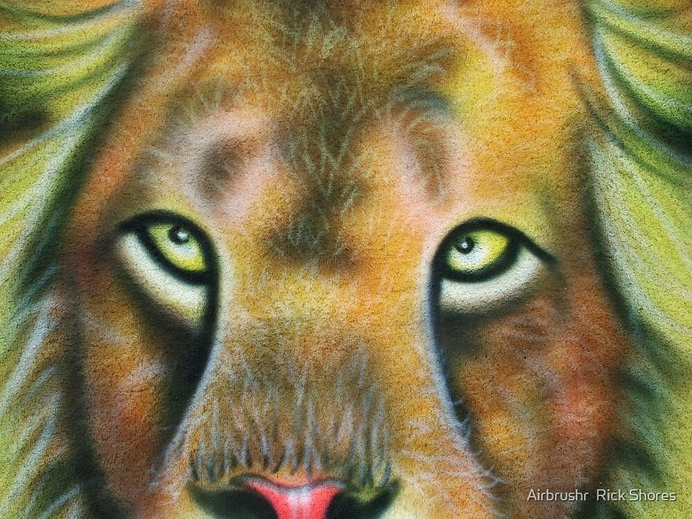 lion airbrush by Airbrushr  Rick Shores