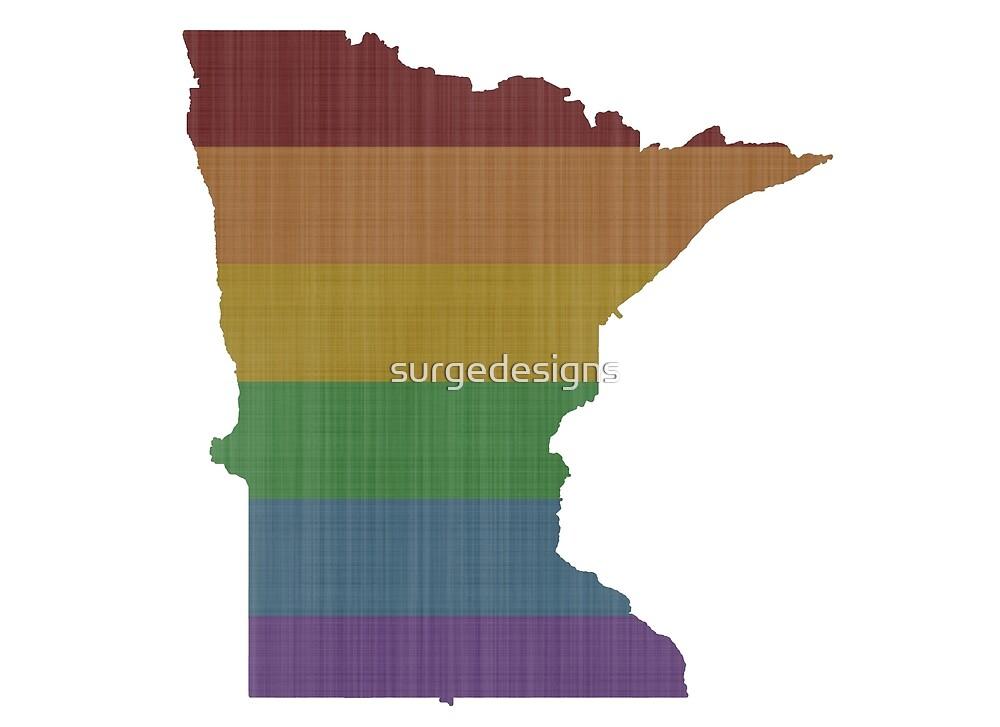 Minnesota Rainbow Gay Pride by surgedesigns