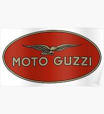 Moto Guzzi Retro Logo Poster