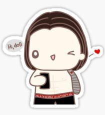 Hey Doll Mirror Selfie Sticker