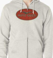 Moto Guzzi Retro Logo Zipped Hoodie
