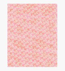Teardrop Petals - Peach Photographic Print
