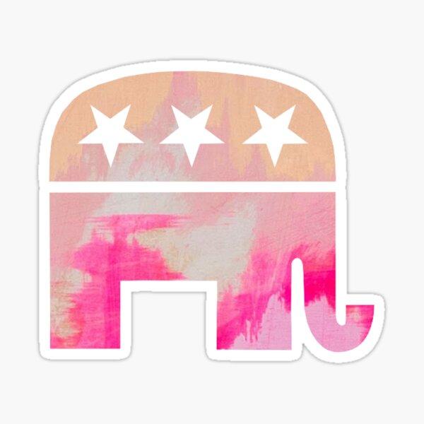 Pink Republican Elephant  Sticker