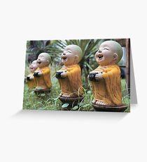 Small Buddha Statues Greeting Card