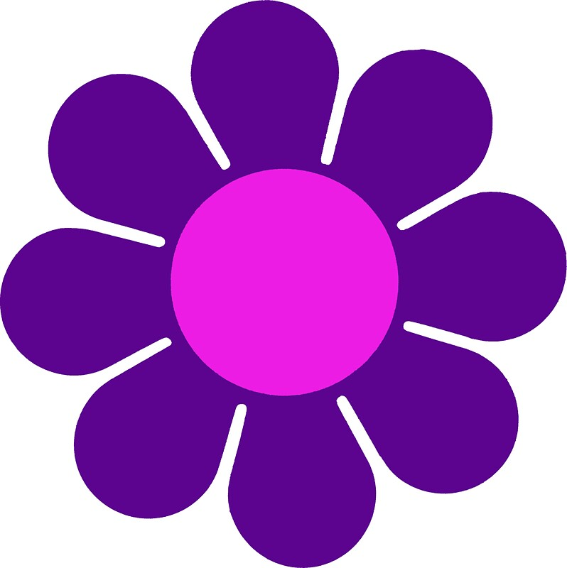"""Purple Pink Hippy Flower Daisy"" Stickers by hilda74"