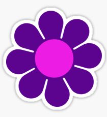 Purple Pink Hippy Flower Daisy Sticker