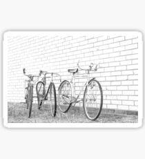 Three Vintage Bicycles. Sticker