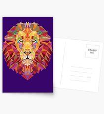Geometric Lion Postcards