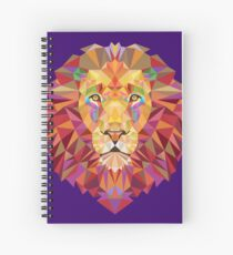 Geometric Lion Spiral Notebook